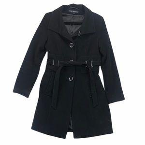 Via Spiga Wool Cashmere Pea Coat Black